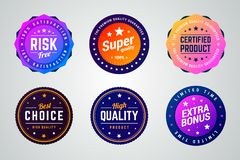 Set of premium colorful gradient vector badges. vector illustration
