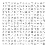 Set of premium freelance icons in line style. stock illustration