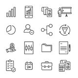 Set of premium freelance icons in line style. Stock Image