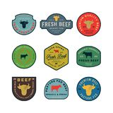 Set of premium fresh beef labels. vector illustration royalty free illustration
