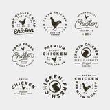 Set of premium fresh chicken meat labels. vector illustration vector illustration
