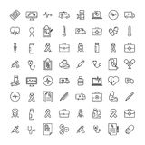Set of premium health icons in line style. stock illustration