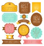 Set of Premium and High Quality labels. Vector File EPS10 Stock Photo