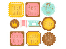 Set of Premium and High Quality labels Royalty Free Stock Photo
