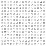 Set of premium investments icons in line style. vector illustration