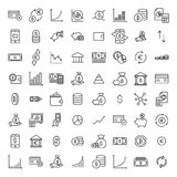 Set of premium investments icons in line style. Royalty Free Stock Photos