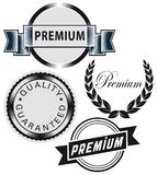 Set of premium labels Royalty Free Stock Photos