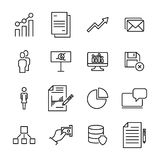 Set of premium leadership icons in line style. Stock Photography