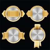 Set of Premium Luxury Gold Silver Seal and Badges royalty free illustration