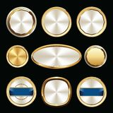 Set of Premium Luxury Gold and White Seal and Badges stock illustration