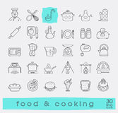 Set of premium quality food and cooking icons. Stock Images