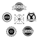 Set of Premium Quality and Guarantee labels and badges Royalty Free Stock Images