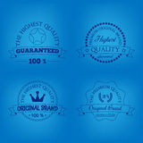 Set of premium quality and guarantee labels Stock Photos