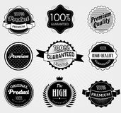Set of Premium Quality and Guarantee Labels Royalty Free Stock Image