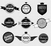 Set of Premium Quality and Guarantee Labels Royalty Free Stock Photography