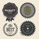 Vintage set premium quality and guarantee labels Royalty Free Stock Images