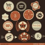 Set of Premium Quality and Guarantee retro Labels Royalty Free Stock Images