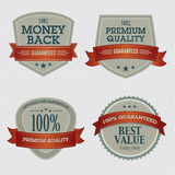 Set of Premium Quality Labels. Collection of vector premium quality labels for packaging, print materials and web Royalty Free Stock Photography