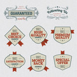 Set of Premium Quality Labels Stock Photo