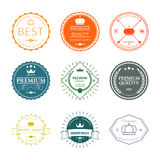 Set of premium quality labels and badges vector Royalty Free Stock Image