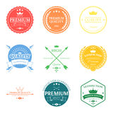 Set of premium quality labels and badges vector Stock Photo
