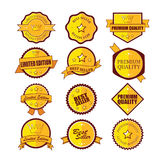 Set of Premium Quality Labels Stock Image