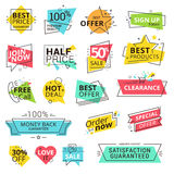 Set of premium quality labels Royalty Free Stock Photography