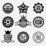 Set of premium quality labels Royalty Free Stock Image