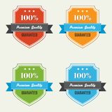 Set of premium quality labels. Vector illustration Royalty Free Stock Photos