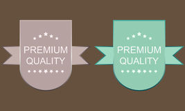 Set of premium and quality labels Stock Photos