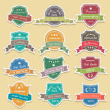 Set of premium quality labels sticker vector Royalty Free Stock Photography