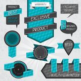 Set of premium quality labels and stickers Stock Photos