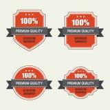 Set of premium quality labels. Vector illustration eps 10 Stock Image