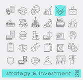 Set of premium quality line strategy and investment icons. Stock Photo