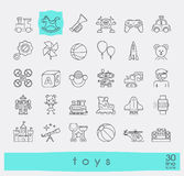 Set of premium quality line toy icons. Play and games icons. Royalty Free Stock Image