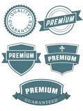 Set of premium seals or labels Royalty Free Stock Image