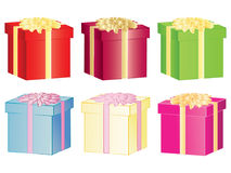 Set of present boxes Royalty Free Stock Photography