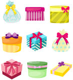 Set of present boxs and bags Stock Photo