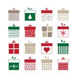 Set of present icons Stock Images