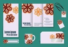 Set of presentation of flyer design content Stock Photo