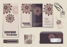 Set of presentation flyer design content Stock Images