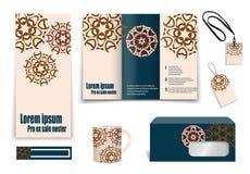 Set of presentation flyer design content Royalty Free Stock Image