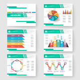 Set of presentation slide templates powerpoint Stock Image