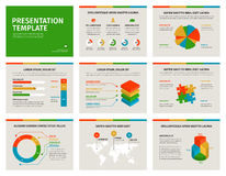 Set of Presentation Template. 3D infographic Stock Images