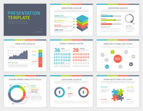 Set of Presentation Template. Infographic elements Stock Photography