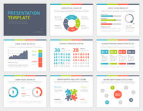 Set of Presentation Template. Infographic elements Royalty Free Stock Photography