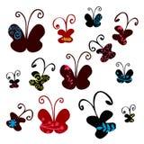 Set of pretty butterflies Stock Photos