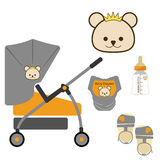 Set of Pretty Stroller,Vector / Illustrator Stock Photo