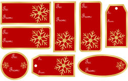 Set Prezent Bożenarodzeniowe Etykietki Fotografia Stock