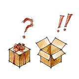 Set prezenty i postboxes ilustracja wektor